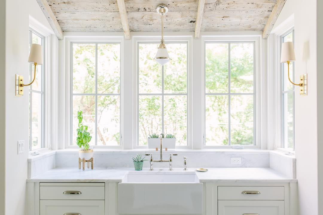 Farmhouse Sink And White Cabinets G Everett